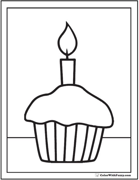 cupcake template printable cupcake candle template pencil and in color cupcake candle template