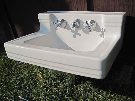 Vintage American Standard Shelf-back Wall-mount Bathroom Bathtub Faucet Leaking From Base How To Install A Kohler Drain What Is The Scene In Quiet Place Metal Bathtubs For Sale Refinishing Kit Portable Toddlers Australia Paint Colors Deep Scrub