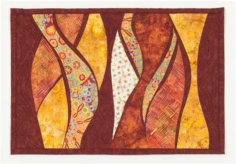 curves quilts quilt circles contemporary wall circle rust artquiltsbysharon