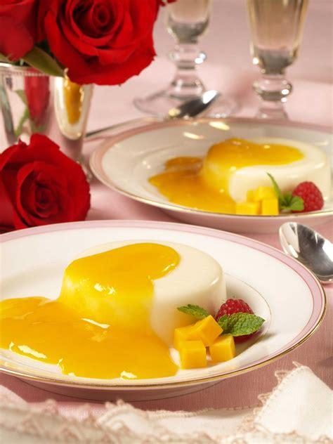 buttermilk panna cotta  mango sauce recipe relish