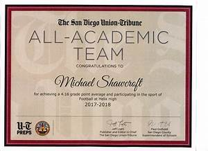 U-T All-Academic Team for fall high school sports - The ...