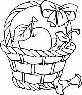 Basket Apple Coloring Clipart Outline Clip Pages Printable Fruit Drawing Picking Colouring Template Cliparts Apples Empty Picnic Clipartpanda Baskets Line sketch template
