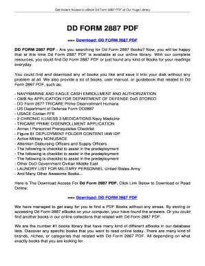 fillable online jansbooks dd form 2887 dd form 2887