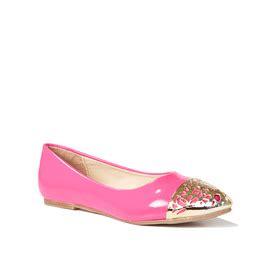 shiny gold toe flat fabkids