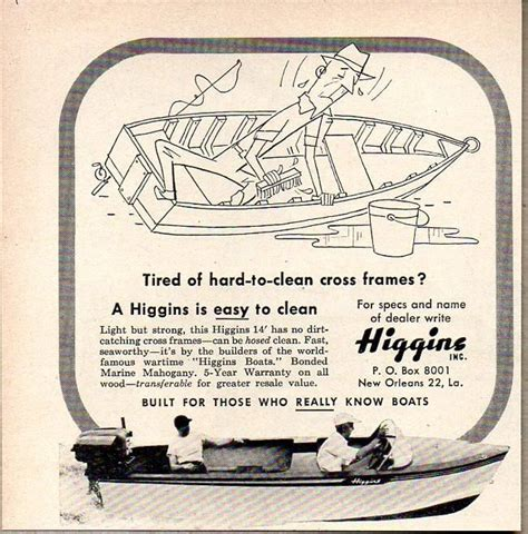 1956 Higgins Wood Boat by 17 Best Images About Vintage Boat Ads On Boats