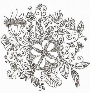 Line Drawing Swirl Flower Pattern Vector Graphic | Free ...