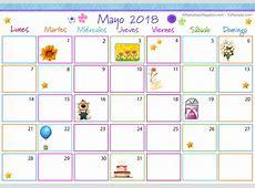 Calendario Multicolor Mayo 2018 Calendario Multicolor