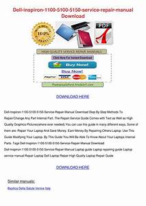 Dell Inspiron 1100 5100 5150 Service Repair M By
