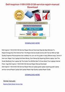 Dell Inspiron 5150 Service Manual