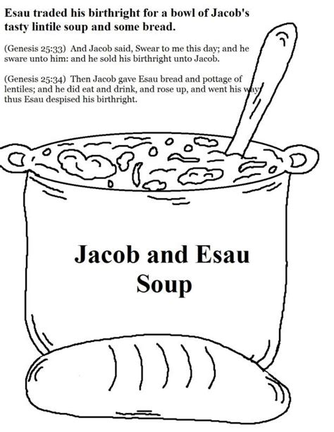 free coloring pages jacob and esau coloring home 601 | 4Tb4GzBEc
