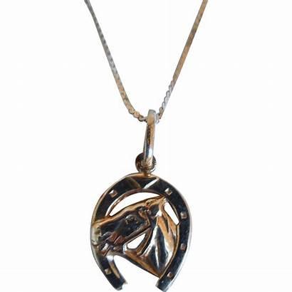 Necklace Italian Horseshoe Pendant 14k