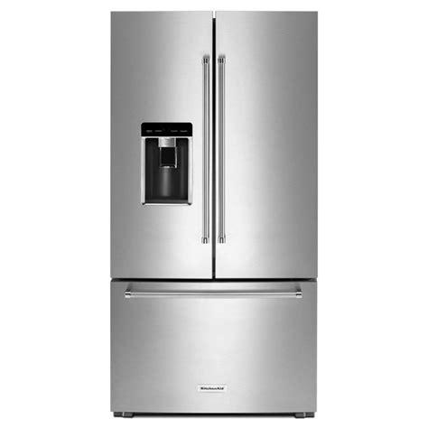 kitchen aid refrigerator shop kitchenaid 23 8 cu ft counter depth door