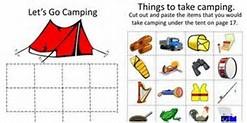 HD Wallpapers Kindergarten Camping Worksheets