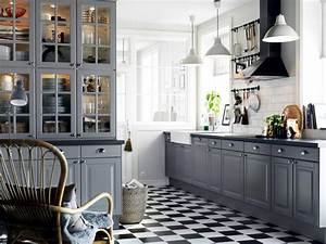 Grey mounted in a country style kitchen Interior Design