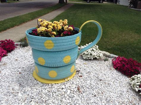 Hometalk  Recycled Tires To Garden Planter