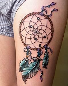 Tatouage Attrape Reve : 1001 id es de tatouage attrape r ve symbolique ~ Carolinahurricanesstore.com Idées de Décoration
