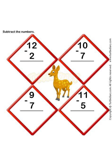 subtraction worksheets images subtraction