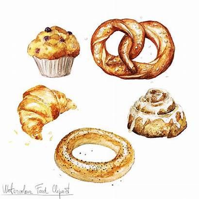 Cinnamon Roll Clipart Clip Baking Vector Illustrations