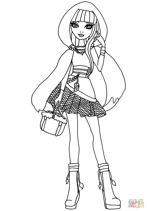 high cerise hood coloring page  printable