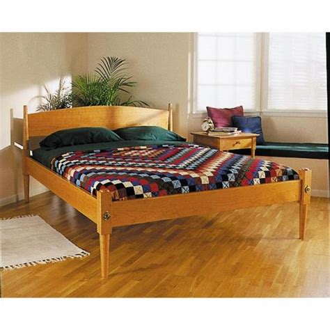 easy  elegant shaker style bed wood magazine