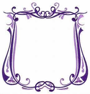 Fancy Purple Frame Clipart - Clipart Suggest