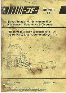 Jf Disc Mower Sb2800 Ii Parts Manual