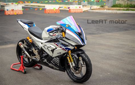 Gambar Motor Bmw Hp4 Race by Yamaha R15 V2 Modified To Look Like A Bmw Hp4 Race