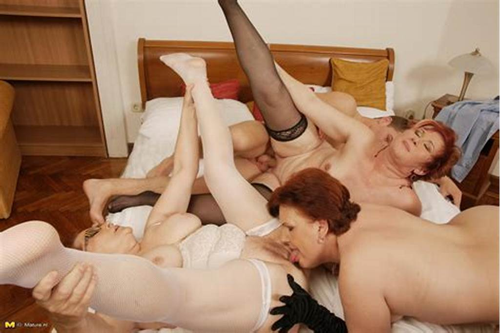 #Three #Horny #Mature #Sluts #Sharing #One #Hard #Younger #Cock