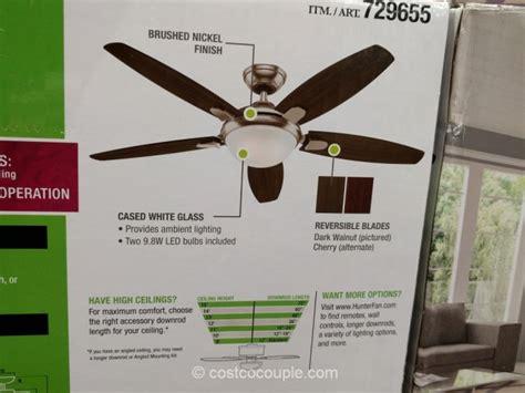 hunter exeter ceiling fan costco ceiling fans pranksenders