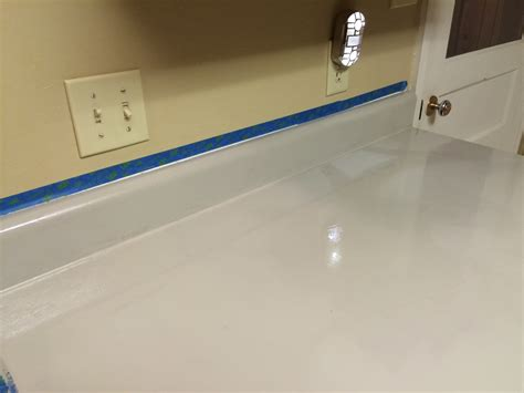 can you paint countertops with regular paint diy painting laminate counter tops with rust oleum a