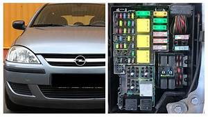 Opel And Vauxhall Corsa C Fuses And Relay Diagram