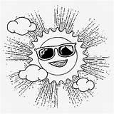 Coloring Preschool Activities Sun Sunglasses Cartoon Printable Drawing Basic Sky Mr sketch template