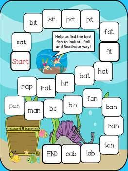 summer short vowel board games cvc cvcc digraphs