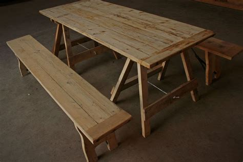 secondhand chairs  tables trestle tables rustic