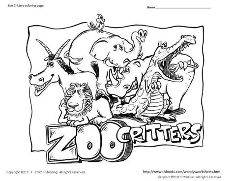 Coloring Zoo Page by Zoo Critters Coloring Page Coloring Home