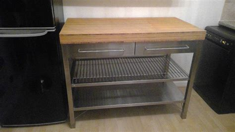 stainless steel work table with two shelves ikea rimforsa kitchen island work bench stainless steel