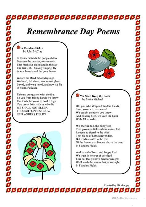 poppy poems for remembrance day remembrance day poems worksheet free esl printable worksheets made by teachers