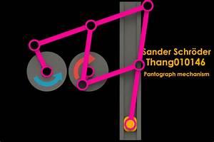 Pantograph mechanism reversing rotation | 3D CAD Model ...