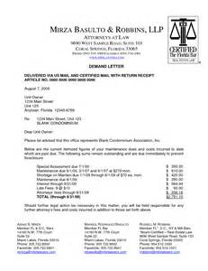 Attorney Collections Demand Letter Sample