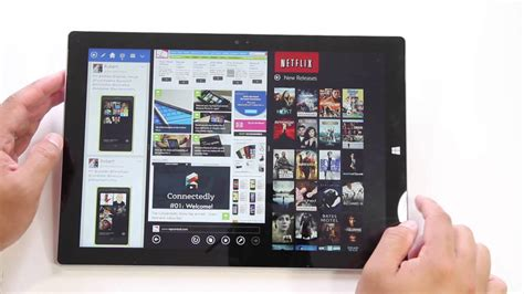 snap up to 4 apps on the surface pro 3