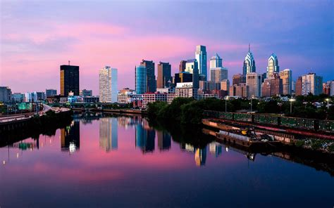 philadelphia skyline wallpaper wallpapertag