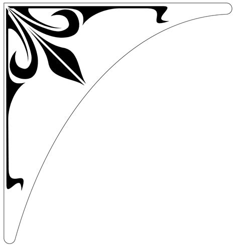 simple corner border design clipart
