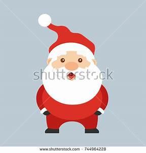 Santa Claus Taking Photo Himself By Stock Vector 237031999 ...