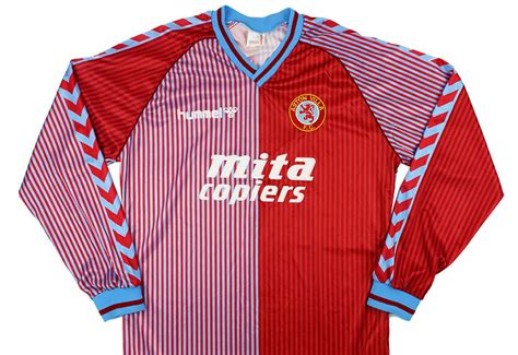 hummel   aston villa match issue home shirt