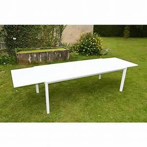 Table D Extérieur : table d ext rieur aluminium plateau verre sienna 220 330 x 105 cm trigano store ~ Teatrodelosmanantiales.com Idées de Décoration