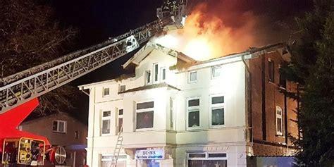 Bad Schwartau  Feuer Zerstört Haus Hanfplantage
