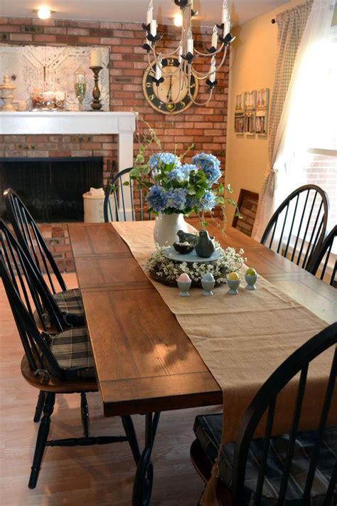dark brown  light black windsor chairsfarmhouse table