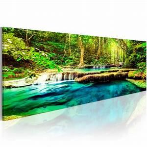 Bilder Natur Leinwand : leinwand bilder xxl fertig aufgespannt bild wasserfall natur c b 0044 b b ebay ~ Markanthonyermac.com Haus und Dekorationen