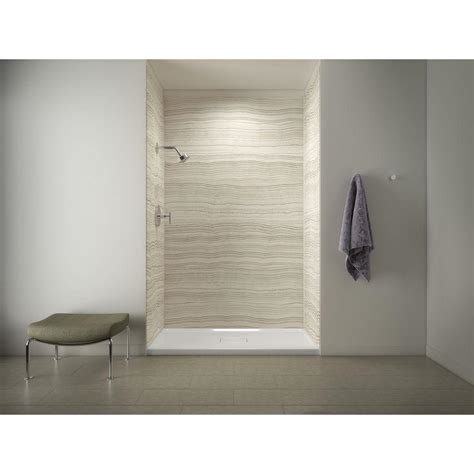 Shower Walls And Base by Kohler Archer 60 In X 36 In Shower Base With Choreograph