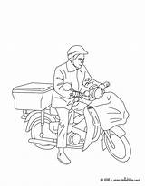 Coloring Pages Office Postman Sheets Printable Preschool Colouring Mail Postal Sheet Truck Hellokids Bike Job Getdrawings Comment Template Coloringhome sketch template